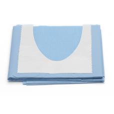"Tallas absorbente/impermeable con fisura en """"U""""  50 x 75 cm Fisura 11 x 9 cm"""