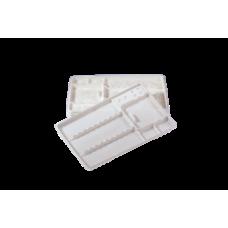 Bandejas desechables, PET poliester repelente natural de la suciedad. 18 x 28 cm